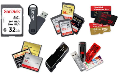 flash drives, sd cards storage data devices