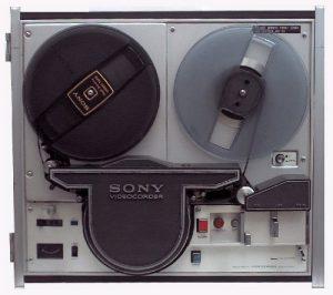 """Sony old school reel to reel 1/4"""" tape deck"""